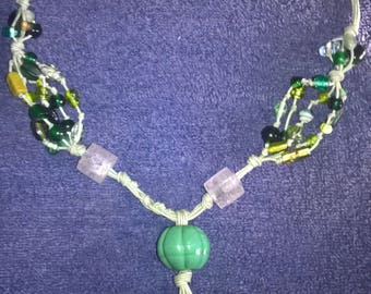 necklace with semi-precious stones