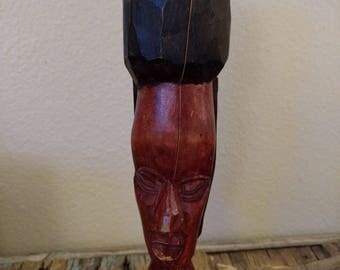 vintage African wooden statue