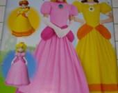Simplicity D0799/8476 Super Mario - New, Uncut, Womens Sizes 14-22, Princess Peach, Princess Daisy, Halloween Costume, Costume Pattern