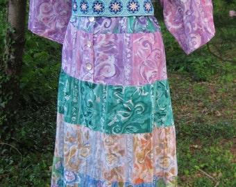Plus Size 3x dress, ALL COTTON Indian dress, vintage ladies plus size dress, 3x sun dress, Cotton Indian dress, casual day, Long maxi dress
