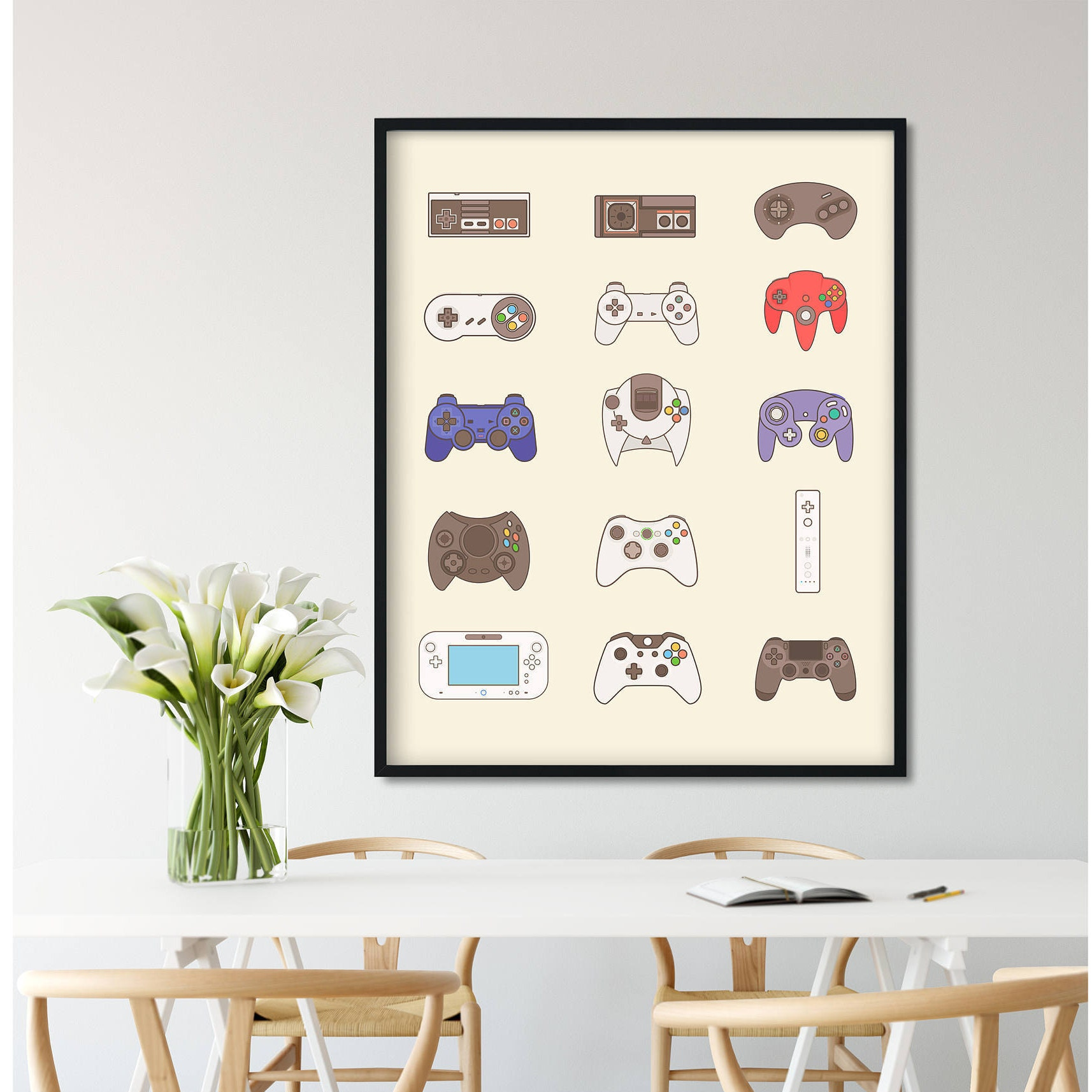 Video game controller video game poster video game decor description video game poster wall amipublicfo Choice Image