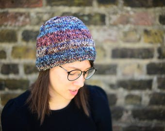 Women's Knitted Beanie Hat, Hand Knit Hat for Women, Teen Hat, Fall Fashion Accessories