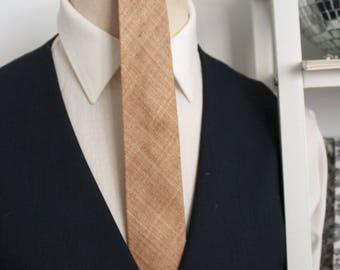 Gold Ultra Raw Silk Necktie