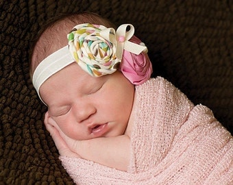 chic baby headband, newborn photography prop, infant headband