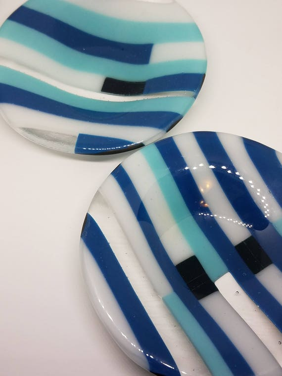 Blues and White Glass Dish