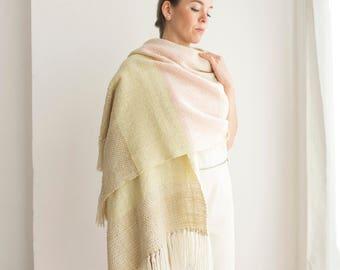 Soft Pastel merino wool shawl
