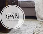 CROCHET PATTERN ⨯ Rug With Tassels Home Decor Cozy Area Mat ⨯ Easy Beginner Crocheting Pattern PDF ⨯ Cozy Hygge Decor Crochet Rug Pattern