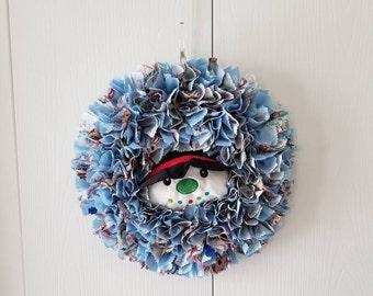 Snowman Door Decor, Snowman Door Hanger, Snowman Door Wreath, Winter Door Decor, Winter Snowman Decor, Snowman Face, Winter Snowman Wreath