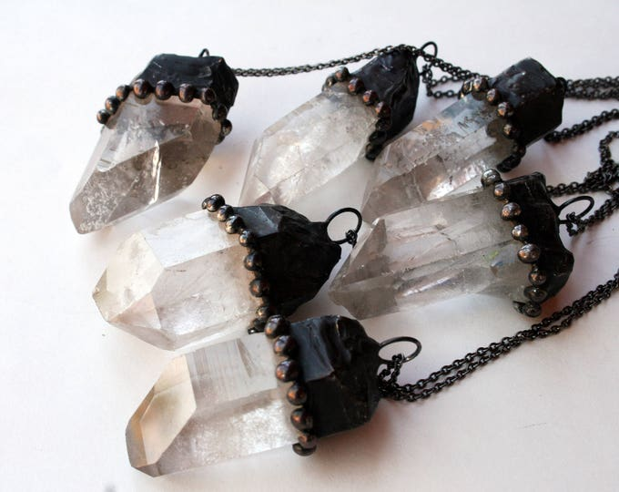 Large Clear Quartz Crystal Necklace