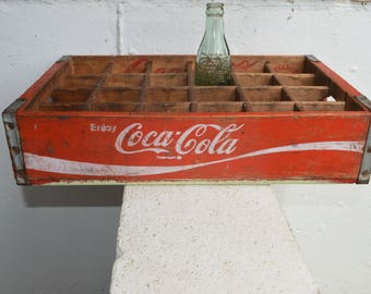 Enjoy Coca-Cola Trademark 24-Bottle Crate, 1971