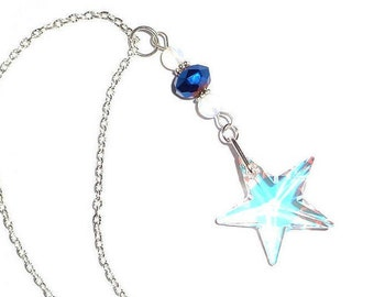 Large Crystal Star, Rear View Mirror Ornament, Crystal Mirror Charm, Car Charm, Crystal Ornament, Car Accessory, New Car Gift, New Home Gift