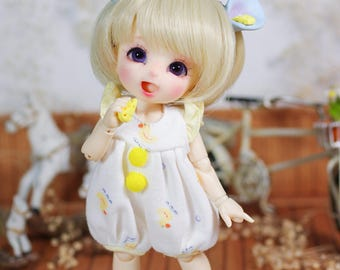 Lati Yellow/ Pukifee - Duck Babydoll Romper/Jumpsuit - Yellow Color