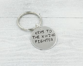 Keys to the X-Wing Fighter Stamped Key Chain, Star Wars