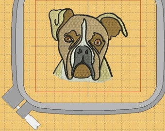 a Boxer embroidery design