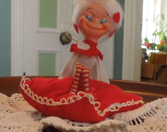 Adorable Vintage Knee Hugger Pixie Valentine's Elf