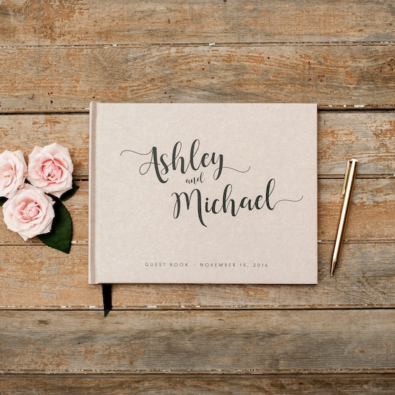 Wedding Guest Book landscape Guestbook horizontal wedding book wedding guestbook rustic wedding planner guest sign in book photo guest book