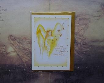 Angel Blessings Handmade Card