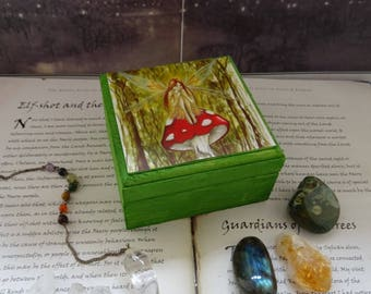Woodland Wish Wooden Box ~ Jewellery Box