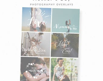 Overlay for Photographers, Mother's Day, Mini Session Overlay, Photoshop Overlay, Mothers Day, Marketing, Mother's Day, Mommy and Me