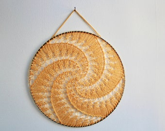 "Earring Holder - Yellow 10""  / Dreamcatcher Design / Wall Statement Decor"