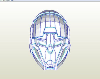 Helmet Destiny. Plantilla PDO file and PDF file, foamcraft, foam EVA, props and cosplay