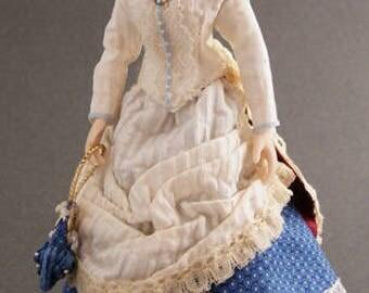 Cora -1/12th Scale Porcelain Dollhouse Doll