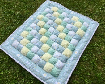 Bubble Quilt, Baby Quilt, Quilt, Crib Quilt, Puff Quilt, Baby Blanket, Biscuit Quilt,Baby Floor Time, Tummy Time