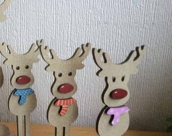 Wooden freestanding reindeers: boy or girl - Little kids treasures