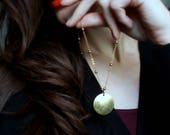 Long Boho Necklace Layering necklace bohemian jewelry summer jewelry raw brass jewelry gold disc necklace long bronze necklace everyday