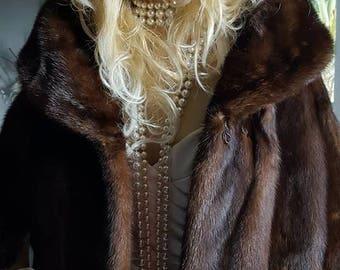 Luxury Vintage Genuine Russian Sable Fur Stole - Jacket - Cape - Capelet - Barguzin Sable Coat - Jacket - Wrap - Shrug - Bolero -