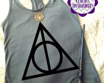 Deathly Hallows Tank, Harry Potter Tank Top, Harry Potter Shirt