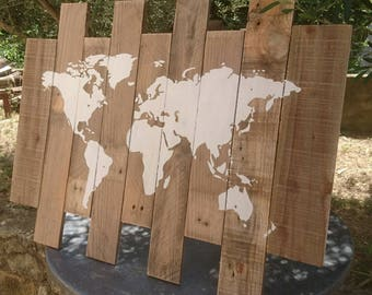 world map wood letters for travel nursery wooden name d cor. Black Bedroom Furniture Sets. Home Design Ideas