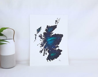 Scotland Galaxy Map (Original Painting)