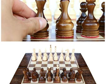 Attractive Wooden Chess Board, Wooden Chess Set, Family Game, Gift For Family, Gift