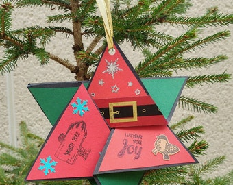 Christmas card and tree decoration in one
