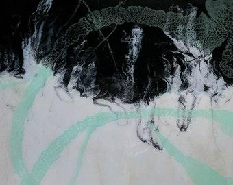 Abstract Epoxy Resin Painting. Glow In The Dark Art. Modern Wall Decor Art. ArtByKozy