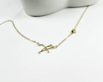 Zodiac Jewelry .Birth sign Astrology ,Horoscope Necklace,Constellation Jewelry. star necklace. valentine's gift. Birthday Gift For Women