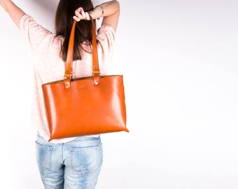 Leather bag, leather handbag, brown leather bag, leather tote, shoulder bag, leather purse, leather tote bag, leather shoulder bag