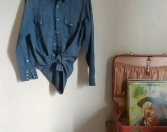 Vintage Ely Snap Button Shirt - Small