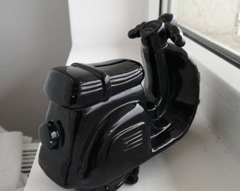 Ceramic motorcycle coin bank