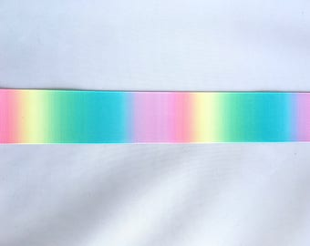 Rainbow 1.5 inch 38mm Grosgrain Ribbon for Hair Bows Scrapbooking Crafts Party Cake Birthday Decoration