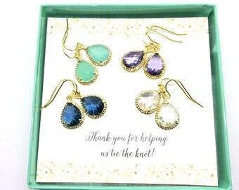 Bridesmaid Gift Set Weddings Bridesmaid Earrings Gold Bridesmaid Gift Bridal Earrings Limonbijoux Jewelry Wedding Jewelry