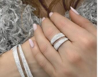 14 Karat Gold Pave Diamond Ring