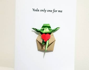 Origami Yoda Valentine's Day Card