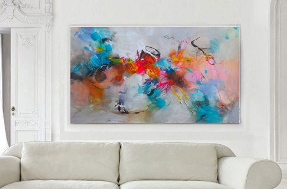Abstract Painting Original Acrylic Large Canvas Art Living