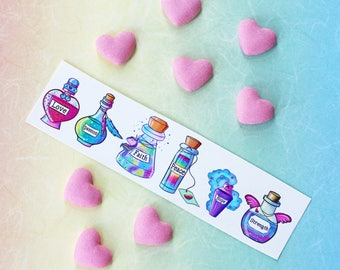 Best Friend Gift Self Care Harm Potion Tattoos ~ Temporary Tattoo ~ Mental Health Awareness ~  Affirmations Motivational Stickers ~ Kawaii