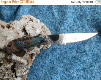 ON SALE Mother of Pearl Pocket Knife, Folding knife with Mother of Pearl Handle, Folding Pocket Knife , Camping Hunting Fishing Knife for Tr