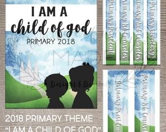 "2018 Primary Theme ""I Am A Child Of God"" Binder Bundle"