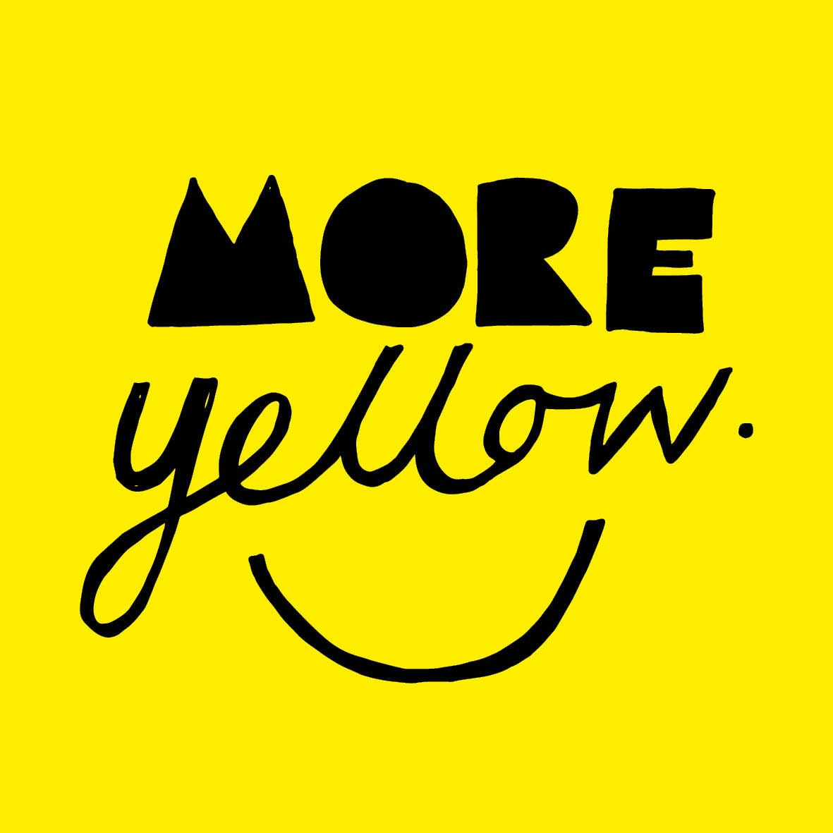 Hand lettering more yellow
