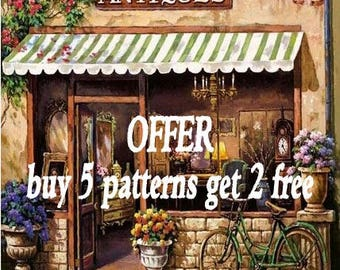 Free cross stitch pattern cross stitch pattern needlepoint canvases christmas gift - Pay for 5 patterns but get 2 patterns
